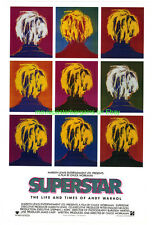 Superstar: The Life and Times of Andy Warhol Movie Poster 1990 Chuck Workman bio