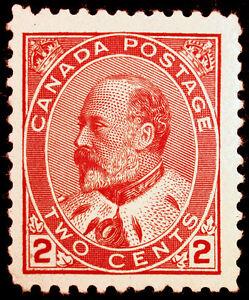 Canada #90 2c Carmine 1903 King Edward VII VF *MNH* CV $297