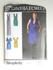 Simplicity pattern K2497 Cynthia Rowley dress  size P5 (12-20) uncut