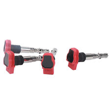 4Pcs Red Ignition Coil For Jetta Golf MK4 01-06 Beetle AUDI A4 99-05 TT A6 1.8T