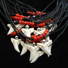80 WHOLESALE BULK LOT SHARK TOOTH NECKLACES 4 MODELS TURQUOISE BROWN RED BLACK