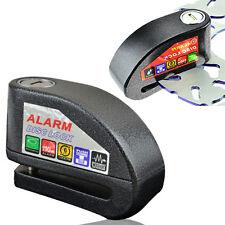 Black Silver Security Anti Thief Motorcycle scooter Wheel Disc Brake alarm lock
