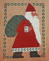 1985 VTG Counted Cross Stitch Christmas Pattern Prairie Schooler Santa 4x3 6040F