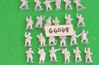 28mm dark ages / west - warband unpainted as photo 24 figs - inf (44048)