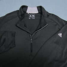 ADIDAS STRETCH POLY SPANDEX  1/4 ZIP GOLF PULLOVER--XL--WRINKLE FREE--PERFECT!-