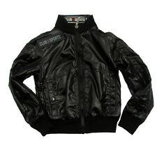 Club des Sports Italy Jacke ultraleichte Daunen Wendejacke 122 128 schwarz grau