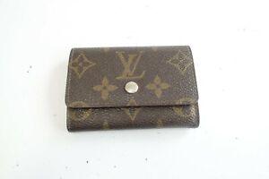 Authentic LOUIS VUITTON Monogram Pass Card Holder Coin case Leather Wallet #9634
