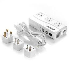 BESTEK International Travel Adapter Voltage Converter 220V to 110V 4USB 3 Outlet