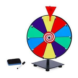 12 Inch Heavy Duty Spinning Prize Wheel, 10 Slots Color Tabletop Prize Wheel
