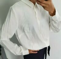 Zalando re. draft white long sleeve shirt button up size UK 8 EUR 36