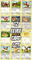 EEVEE Pokemon Card Lot x12 - includes SM235 SM184 Hidden fates Set