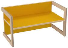 PiHaMi Kindersitzbank Kindermöbel Stuhl Tisch Hannes Birke/Gelb in 3 Sitzhöhen