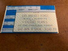 1988 Los Angeles Kings v Calgary Division Semifinals Playoff Hockey Ticket  #3