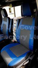 FORD Transit 2001-2012 FURGONE SEAT COVERS tessuto 2 SINGOLO OEM In Pelle Blu X52BU