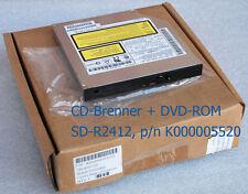 CD-RW CD BURNER DVD-ROM SD-R2412 TOSHIBA SATELLITE A30 P/N K000005520 720 #NEU