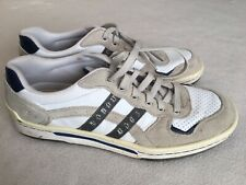 Skechers Relaxed Step White Leather Casual Sneaker Lace Up Size 12 Mens RN 61959