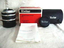 Vivitar AT-7 Auto Extension Tube Set for Kohica Bayonet Mount New Old Stock #Mat
