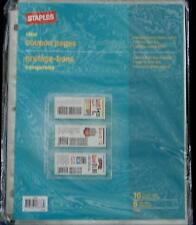 Staples Clear Coupon Pages - BRAND NEW PACKAGE OF 10 - HOLD CLIPPED COUPONS