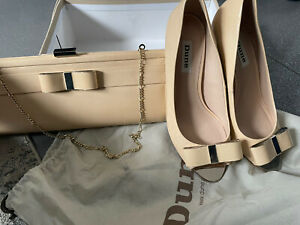 Dune Shoes And  Matching Bag    U.K. 5. Nude Colour Wedding