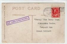 CANADA: 1925 picture postcard with S.S. LORD STRATHCONA cachet (C38742)