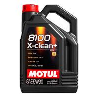 5 LT Litri Olio Motul 8100 X-CLEAN+ XCLEAN + 5W30 ACEA C3 Bmw Longlife LL-04