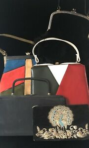 Lot of 5 Vintage Ladies Handbag / Purses /Clutch