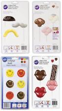 Wilton Lollipop Candy Photobooth Face Molds- Lot 4 Smile, Mustache, Lips, Bunny