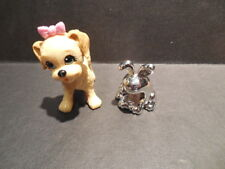 Barbie Doll Size Silver Rabbit Pretend Mp3 Player Holder Accessory Plus Dog