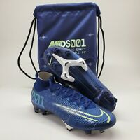"""Nike Mercurial Superfly 7 Elite MDS FG ACC Soccer Cleats """"Blue Void"""" BQ5469 401"""