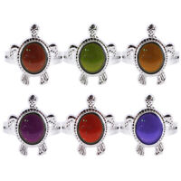 1 Pc Fashion Color Changing Mood Turtle Ring Finger Ring Gift Adjustable