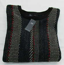 Ladies Marks & Spencer Black Mix Glitter Tassel Long Sleeve Jumper Size X Large