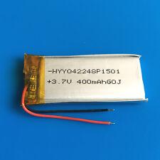 3.7V 400mAh LiPo Battery Cell for MP3 GPS Selfie Stick Speaker Smart Band 402248