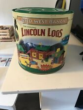 Lincoln Logs Wild West Ranch in Tub In Good Condition!