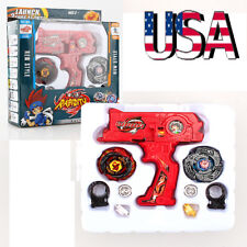 Kid's Toy Alloy Gyro Top Fusion Metal Master Fight Rapidity Rare Launcher Set