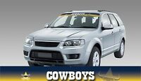 62587 NORTH QUEENSLAND COWBOYS COLOUR VISOR BLOCK OUT DECAL NRL CAR STICKER ITAG