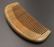 Natural Green Sandalwood Handmade Wooden Hair Comb Fine Teeth Brand Non-static