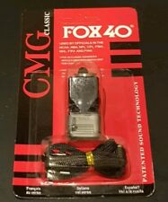 Fox 40 Sonik Blast CMG Whistle Lanyard Referee Coach Outdoor Dog Safety Black