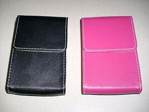 Visitenkartenetui Visitenkartenmappe Etui Visitenkarten - pink/rosa od. schwarz