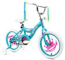 """Kids 16"""" Bicycle Bike with Training Wheel Girls w/ Princess Celestial Stickers"""