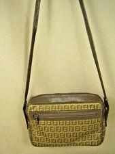 Vintage FENDI ITALY ZUCCA Light Brown Small Shoulder Bag