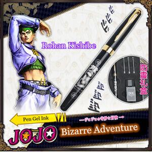 Anime JoJo's Bizarre Adventure Rohan Kishibe Art Metal Fountain Pen Gel Ink Gift