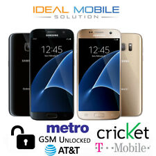 Samsung Galaxy S7 32GB - G930 (GSM Unlocked) Smartphone Black / Gold Heavy Burn