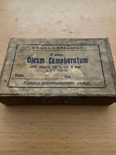vintage 3 pharmacy medical ampoules  oleum camphoratum