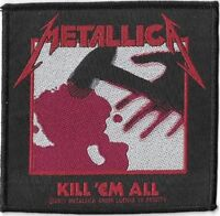 Official Merch Woven Sew-on PATCH Heavy Metal Rock METALLICA Kill 'em All