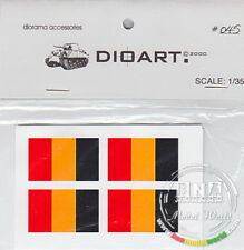 DioArt 1/35 All Periods 8 Flags (Belgium) printed double sided on paper DIO-045