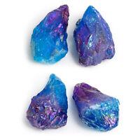 Natural Quartz Crystal Rainbow Titanium Cluster VUG Mineral Specimen Healing Hot