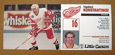 Red Wings Vladimir Konstantinov Little Caesars card