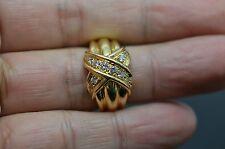 "Tiffany & Co.  Diamond 18K Gold ""X"" Ring"