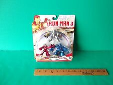Iron Man 3 Super Hero Squad Iron man,Mark 1,Iron Monger Hasbro 2012 Battle Vault