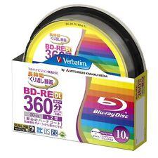 10 Verbatim Bluray Bd-re Dl 50GB Rewritable Blueray Original Spindle from Japan